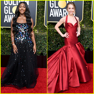 Golden Globes Ambassador Isan Elba Joins 'The Americans' Holly Taylor On The Red Carpet