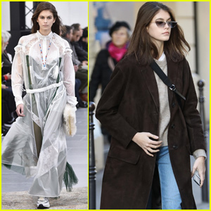 Kaia Gerber Stops By Chanel Headquarters in Paris!