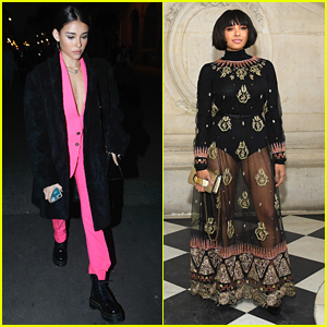 Madison Beer's Bright Pink Suit Steals The Show in Paris