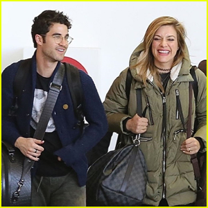 Darren Criss Returns Home After Getting Married to Mia Swier!