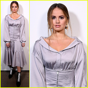 Debby Ryan is Pretty in Purple at Adeam's New York Fashion Week Show!