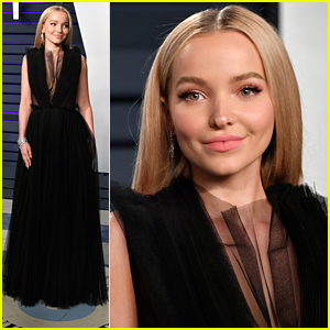 Dove Cameron is Beautiful in a Black Gown at Vanity Fair's Oscar Party 2019