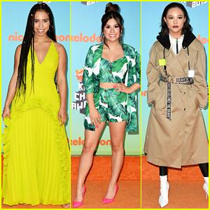 Asia Monet Ray, Madisyn Shipman, & Breanna Yde Light Up Kids' Choice Awards 2019 Carpet