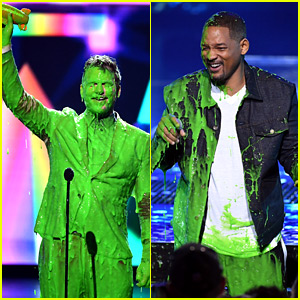 Chris Pratt & Will Smith Get Hit with Slime at KCAs 2019!