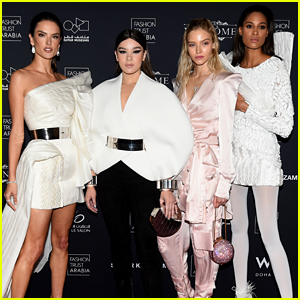 Hailee Steinfeld Joins Supermodels in Qatar for Fashion Trust Event
