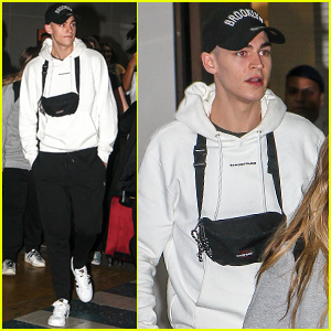 Hero Fiennes Tiffin Gets Greeted By Fans in Brazil!
