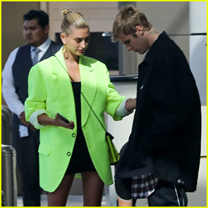 Justin   Hailey Bieber Step Out Together Wearing Matching Shoes 8a41b1891