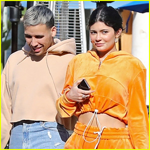 Kylie Jenner Lets Out a Smile While Enjoying a Lunch Date
