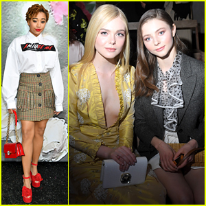 Elle Fanning & Amandla Stenberg Dress Up for Miu Miu Show!