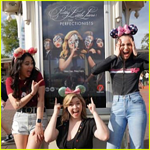 Sofia Carson, Janel Parrish, & Sasha Pieterse Bring 'The Perfectionists' to Disney World!