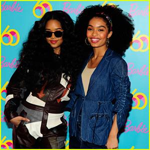 Yara Shahidi Celebrates Barbie's Annivesary with Singer H.E.R.