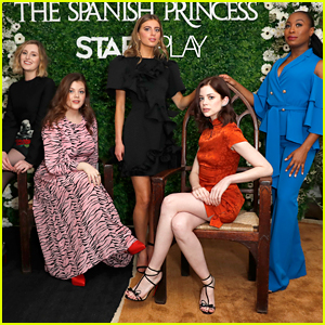 Georgie Henley Joins Charlotte Hope at 'The Spanish Princess' Screening