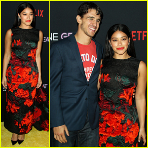 Gina Rodriguez & Fiance Joe LoCicero Couple Up at 'Someone Great' Premiere!