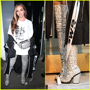 Jade Thirlwall Rocks Thigh-High Boots For Birthday Party in London