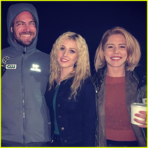Katherine McNamara Shares Cute Pic With Her 'Arrow' Parents Stephen Amell & Emily Bett Rickards