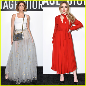 Maia Mitchell & Sabrina Carpenter Look Chic at Dior Backstage Party!