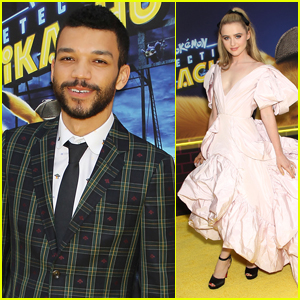 Justice Smith Joins Kathryn Newton at 'Detective Pikachu' NYC Premiere!