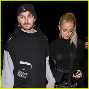 Michael Clifford & His Fiancée, Crystal Leigh, Share Sweet PDA in Los Angeles