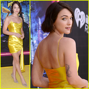 Violett Beane Rocks Yellow Mini-Dress For 'Detective Pikachu' Premiere in NYC