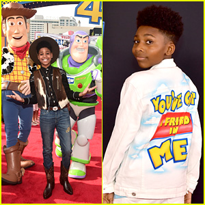 The Lion King's JD McCrary Wears Cowboy Look For 'Toy Story 4' Premiere