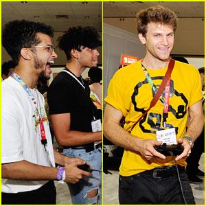 Jordan Fisher & Keegan Allen Kick Off E3 Convention with Nintendo