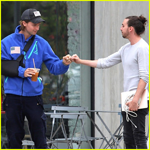 Patrick Schwarzenegger Grabs Coffee With a Pal in LA