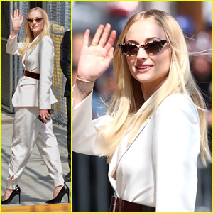 Sophie Turner Meets Up With Jennifer Lawrence For 'Dark Phoenix' Appearance on 'Jimmy Kimmel Live'