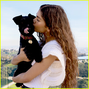 Zendaya & Her Dog Noon Are So Cute In 'Glamour Paris's New Issue