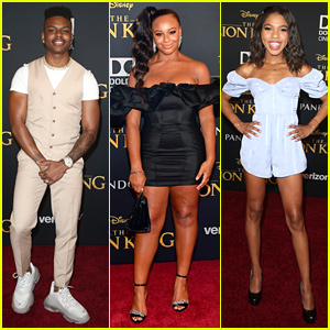 Aubrey Joseph, Nia Sioux, Teala Dunn & More Step Out For 'The Lion King' Premiere