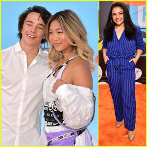 Chloe Kim & Toby Miller Couple Up on Kids' Choice Sports Awards 2019 Orange Carpet
