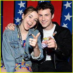 Dylan Minnette Cuddles Up With Girlfriend Lydia Night at Knott's Summer Nights!