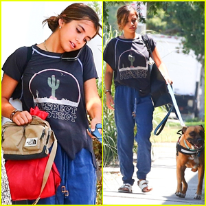 Isabela Moner Walks Her Dog in West Hollywood!
