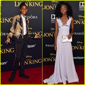 JD McCrary & Shahadi Wright Joseph Premiere 'The Lion King' in Hollywood!