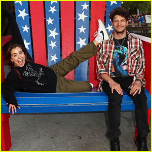 Haley Lu Richardson, Brett Dier, & Keegan Allen Get Silly at Knott's Summer Nights!