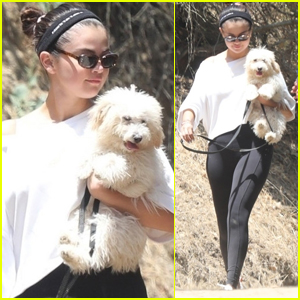 Selena Gomez Takes Her New Puppy for a Walk!