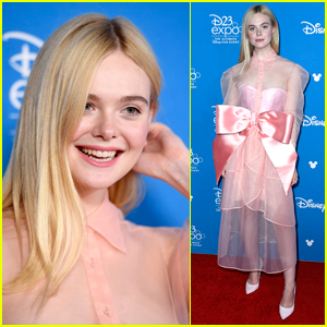 Elle Fanning Promotes 'Maleficent 2' at D23 Expo 2019