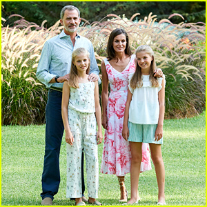 Princess Leonor of Spain Keeps It Cute In a Sweet Jumpsuit For Summer Photocall in Mallorca