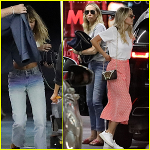 Miley Cyrus & Kaitlynn Carter Go Out for Lunch with Tish Cyrus
