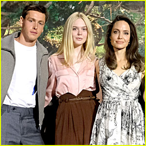 Elle Fanning & Harris Dickinson Join 'Maleficent' Stars at Beverly Hills Press Conference