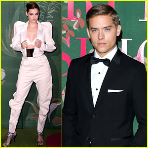 Barbara Palvin Promotes Sustainable Fashion at Green Carpet Event with Dylan Sprouse