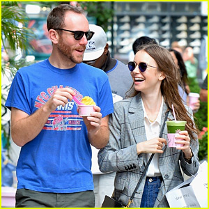 Lily Collins Looks So Happy with Charlie McDowell!