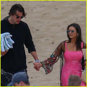 Nina Dobrev & Boyfriend Grant Mellon Hold Hands at Beach in Hawaii!