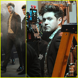 Niall Horan Suits Up While Shooting New Music Video in London