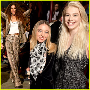 'Euphoria' Cast Supports Zendaya at Her Tommy Hilfiger Show!