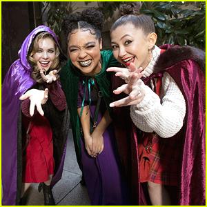 Aisha Dee, Meghann Fahy & Kimiko Glenn Channel Sanderson Sisters at 31 Nights of Halloween Event