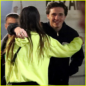 Brooklyn Beckham Hugs a Friend Outside of London Nightclub