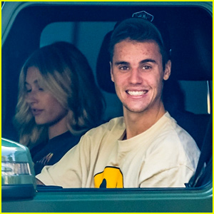Justin Bieber Flashes a Grin While Driving Around With Wife Hailey!