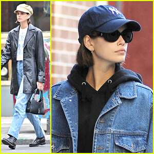 Kaia Gerber Runs Errands Around NYC Ahead of Hitting The Gym
