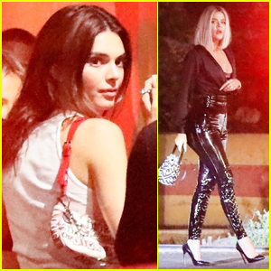 Kendall Jenner Parties with Khloe Kardashian in L.A.