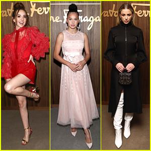 Ruby Jay & Sofia Wylie Are Hollywood Rising Stars at Elle & Ferragamo's Weekend Bash